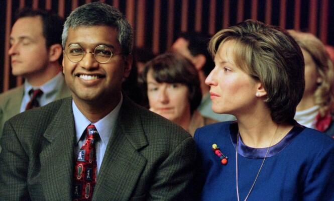 FORELDRENE: Ekteparet Sunil og Deborah Eappen under rettshøringene i 1997. I februar samme år mistet de sin åtte måneder gamle sønn. FOTO: NTB Scanpix