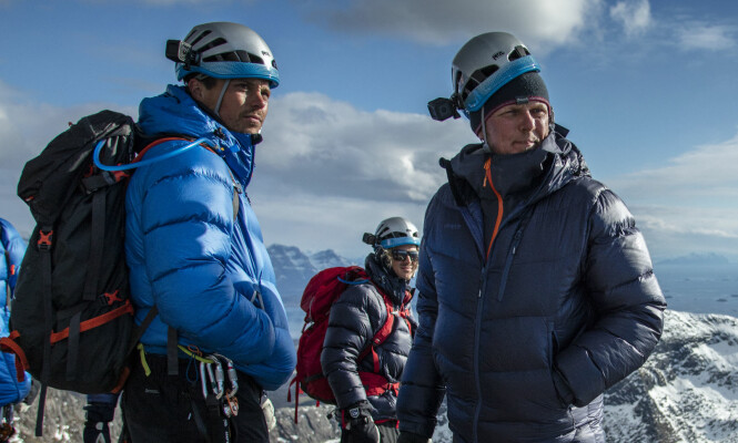 GODE VENNER: Stegavik og Holst ble gode venner gjennom turene de fikk sammen. Nå vinneren ta med seg kameraten på tur. Foto: Matti Bernitz / Disocvery