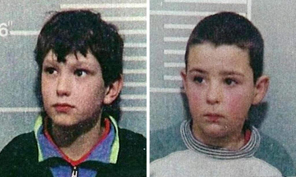 DØMT: Jon Venables (t.v.) og Robert Thompson ble i 1993 dømt for drapet på to år gamle James Bulger. Foto: Politiet