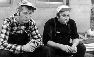 ORIGINALEN: Gunnar Haugan (t.v.) og Rolv Wesenlund i «Norske byggeklosser» Foto: NTB Scanpix