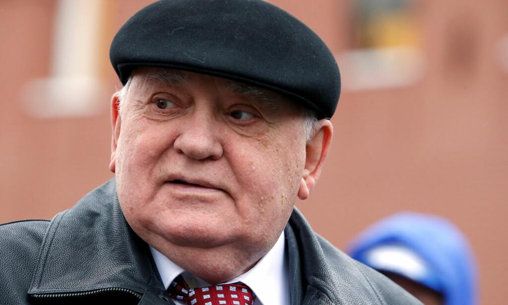 ILLSINT: Mikhail Gorbatsjo er svært misfornøyd med IOCs avgjørelse om å nekte Russland deltagelse i det kommende OL. Foto: REUTERS/Sergei Karpukhin/NTB Scanpix