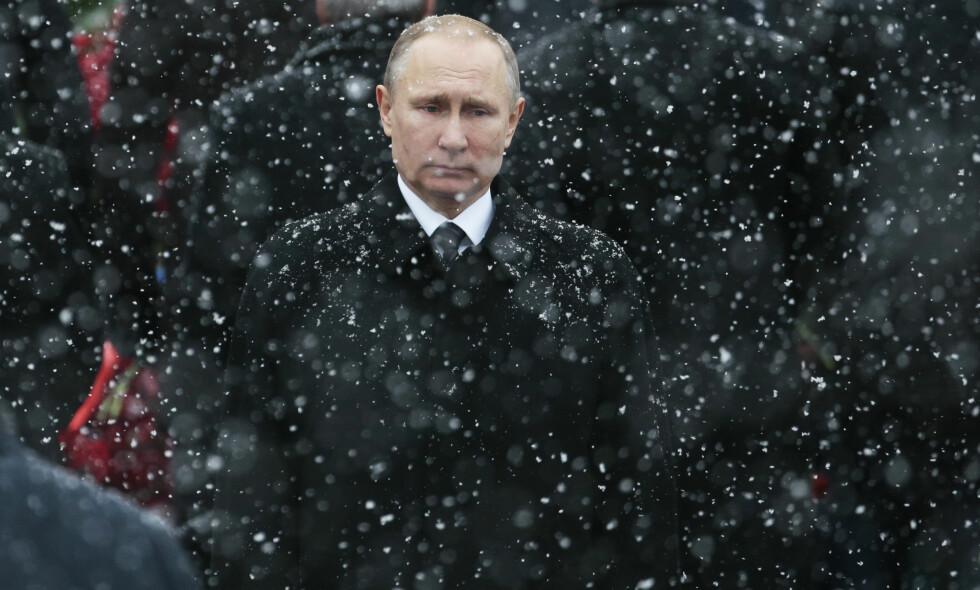 AVVISER BOIKOTT: Vladimir Putin avviser at russiske utøvere som kan delta i lekene vil boikotte OL. Foto: AP Photo/Ivan Sekretarev, / NTB Scanpix