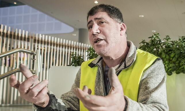 VISSTE IKKE: Abbas Madani forteller at Roger Wilhelmsen er en av sjefene i Afore. At Wilhelmsen ikke har lov til å ha noen ledende stilling i noe firma, sier han at han ikke visste. Foto: Hans Arne Vedlog / Dagbladet