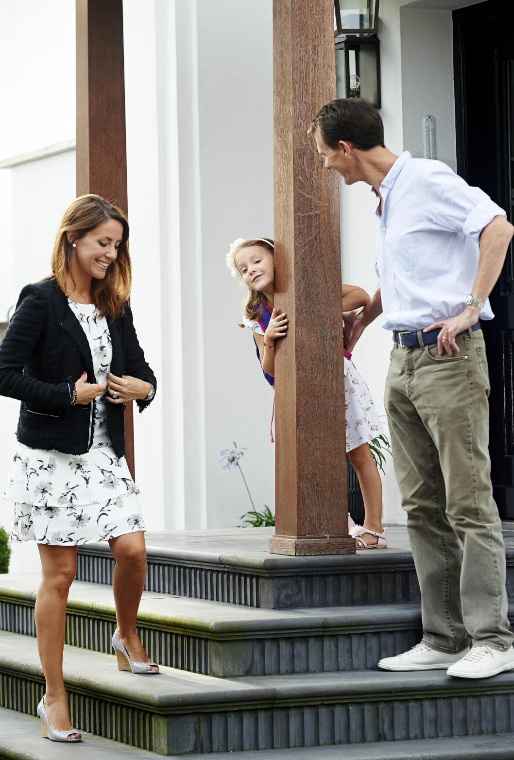 SPENT: Prinsesse Athena av Danmark, datteren til prinsesse Marie og prins Joachim, gjorde ablegøyer før hun ble fulgt til første skoledag i sommer. Foto: NTB Scanpix