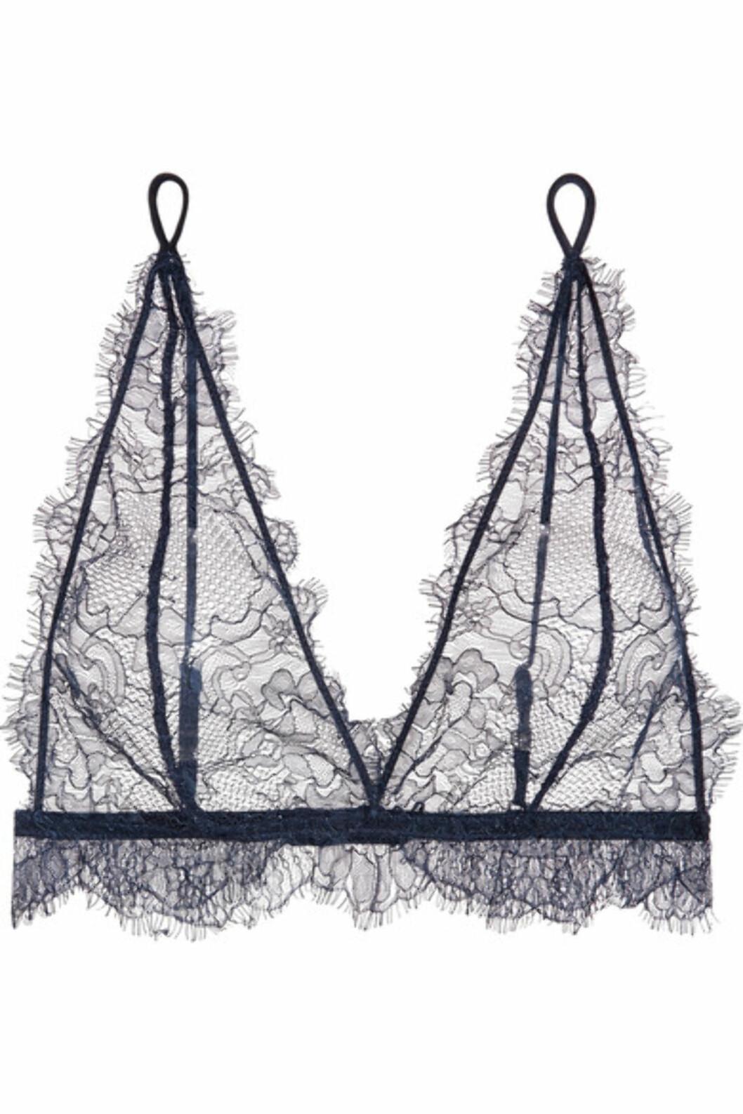 Bh fra Anine Bing via Net-a-porter.com |1085,-| https://www.net-a-porter.com/no/en/product/975099/anine_bing/stretch-lace-soft-cup-bra