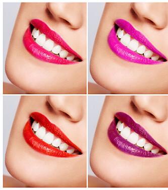 SER DU FORSKJELLEN: På bildene med med en kaldere undertonen, vil tennene fremstå som hvitere enn på de med varme undertoner.FOTO: NTB Scanpix
