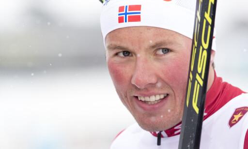 SLÅR TILBAKE: Emil Iversen ler av Emil Johanssons utspill og mener ingen av svenskene er raske i en spurt. Foto: Terje Pedersen / NTB scanpix
