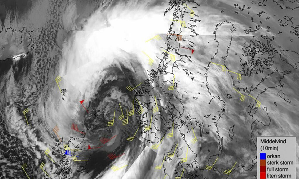 image: Meteorologisk institutt varsler ekstremvær i natt
