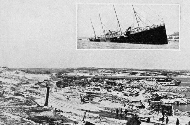 image: Fatal misforståelse sprengte det norske skipet og tok livet av tusener av mennesker