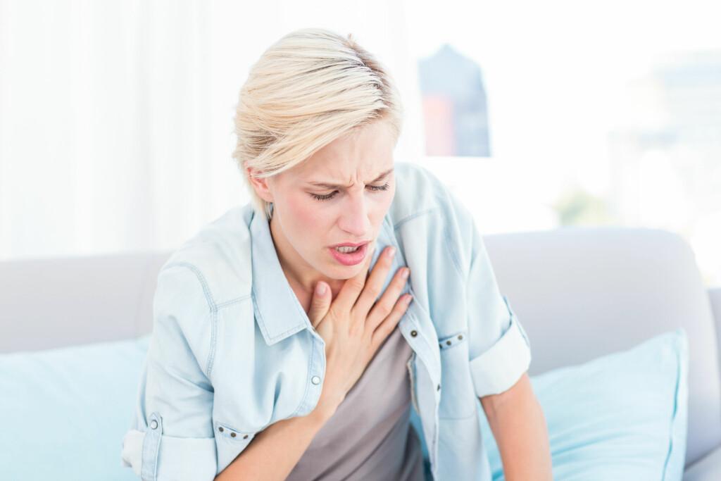 ASTMA HOS VOKSNE: Kan også oppstå først i voksen alder. Symptomene er ofte tung og pipete pust. Foto: NTB Scanpix/Shutterstock