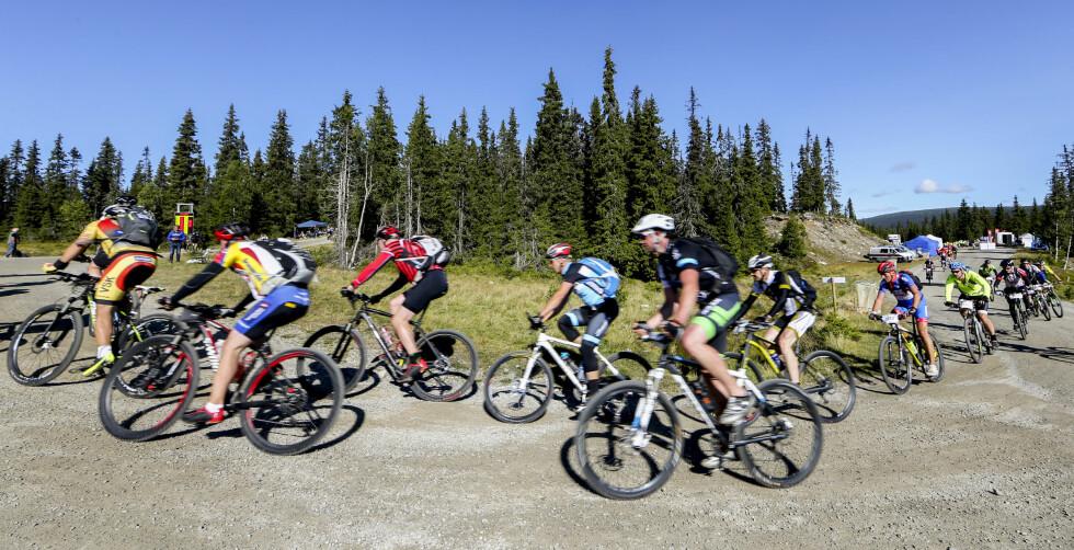 SMERTER: Som syklist er du mest utsatt for det kne- og korsryggsmerter . Foto: Scanpix/Geir Olsen