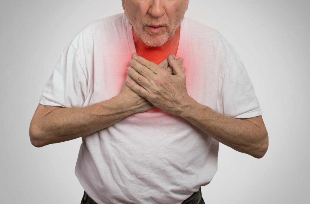 ALLERGISK SJOKK: Ved allergisk sjokk vil man få pustevansker og kvelningsfornemmelse. Foto: NTB Scanpix