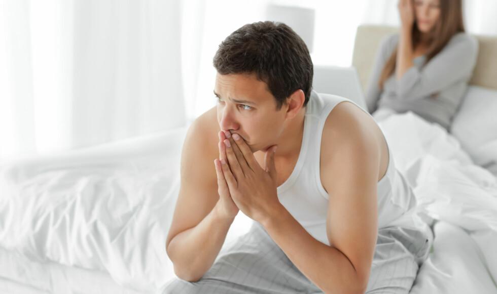 LAVT TESTOSTERON: Påvirker først og fremst sexlysten. Man mangler motivasjon og mister kåtheten. Foto: NTB Scanpix