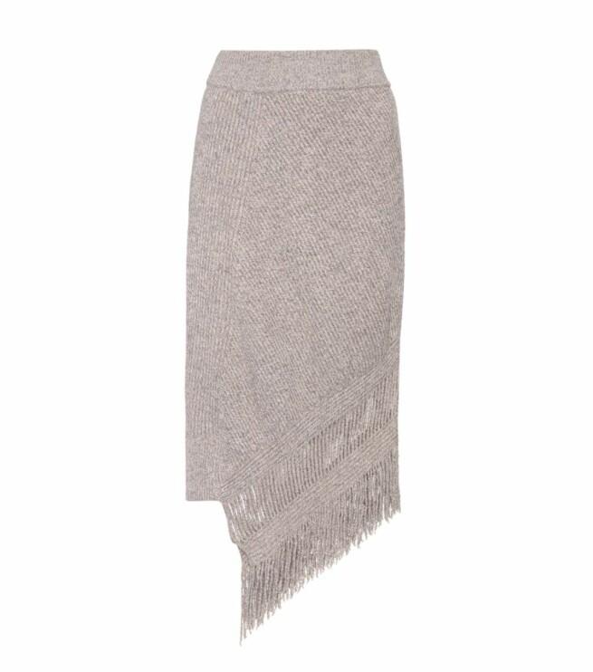 Skjørt fra Stella McCartney via Mytheresa.com |5520,-| https://www.mytheresa.com/en-de/000359-asymmetrical-cashmere-and-wool-skirt-825364.html?catref=category