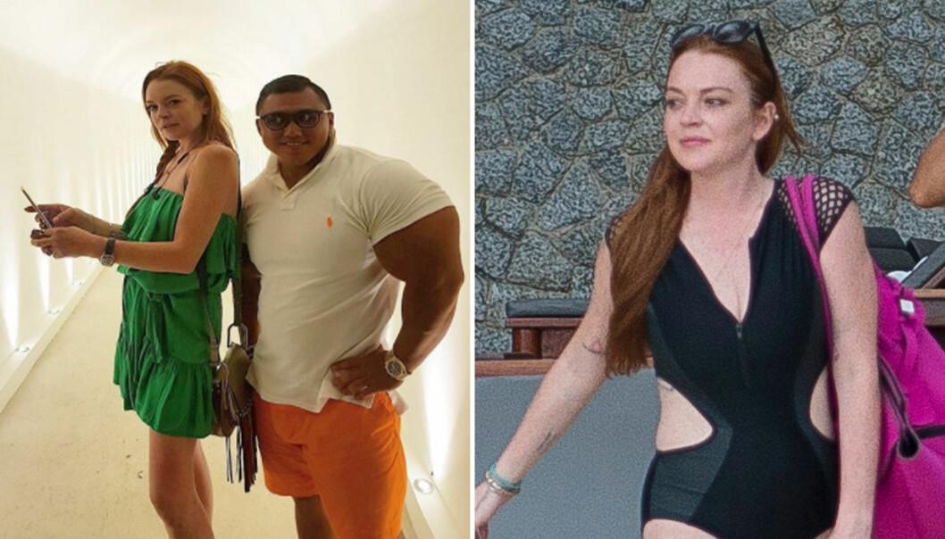 <strong>GODE VENNER:</strong> Lindsay Lohan nyter for tiden livet med milliardæren Je-Yong Ha. Filmstjernen dukker ofte opp på hans Instagram-profil. Foto: Instagram/NTB Scanpix