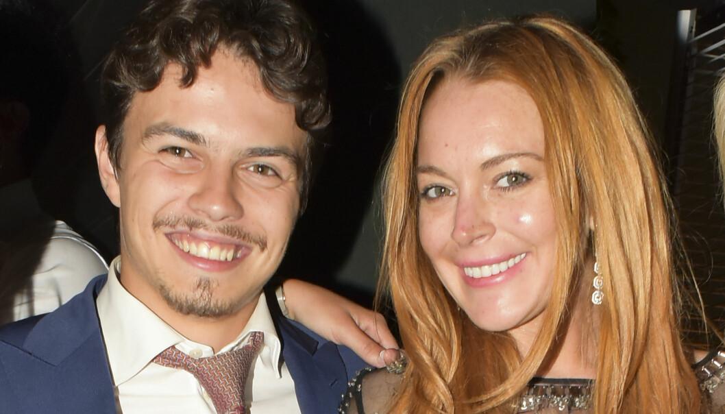<strong>EKS-KJÆRESTE:</strong> Lindsay Lohan sammen med sin eks-forlovede Egor Tarabasov. Foto: NTB Scanpix