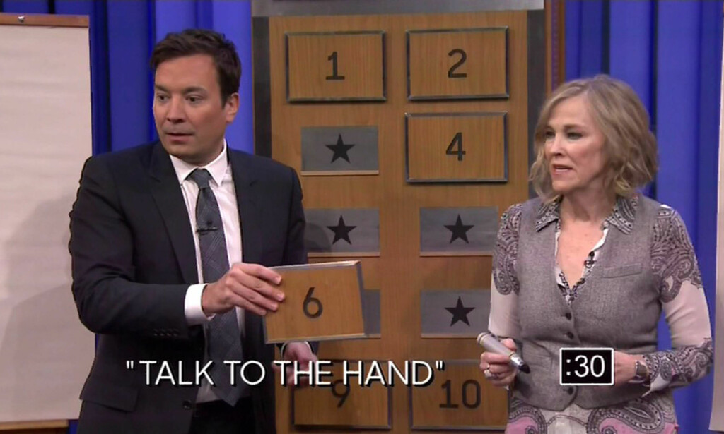 I 2016: Catherine O'Hara i aksjon i tegne- og gjettespillet Pictionary i «The Tonight Show Starring Jimmy Fallon». Foto: NBC / XPOSURE / NTB Scanpix