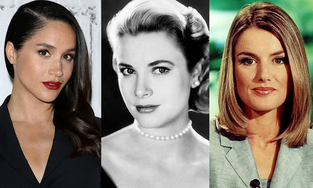 VERDENSSTJERNER: Før Meghan Markle, Grace Kelly eller Letizia Ortiz Rocasolano begynte å date kongelige, hadde de allerede egne karrierer. Foto: NTB scanpix