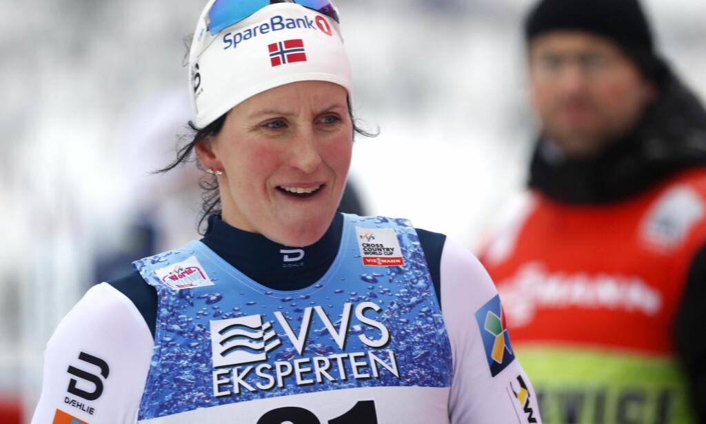 FORBANNA: Marit Bjørgen kjenner på sinnet etter at de russiske sabotasjeplanene mot Vita Semerenko ble kjent. Foto: Terje Bendiksby / NTB Scanpix