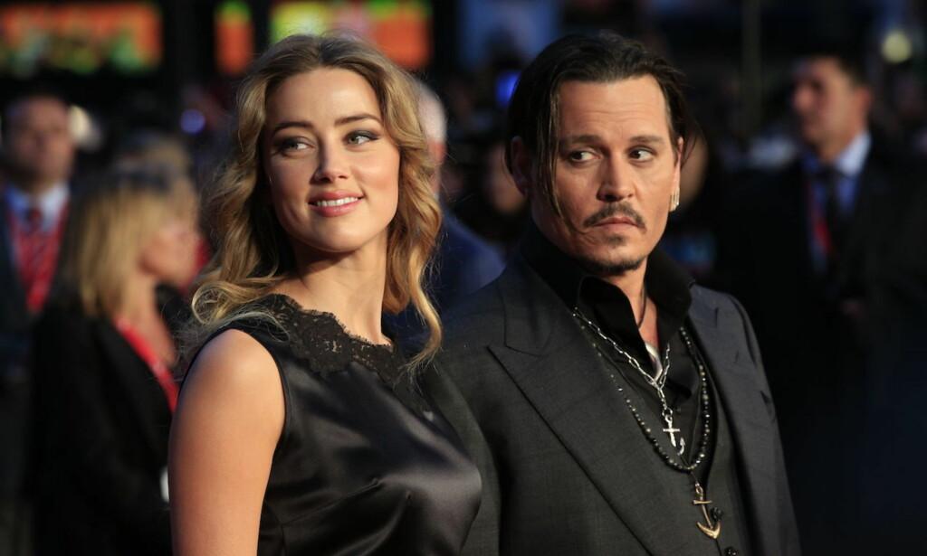 VIL SPARKE EKSEN: Amber Heard og Johnny Depp gikk gjennom et skittent skilsmisseoppgjør etter bruddet i mai 2016. Nå krever hun at han får sparken fra sitt neste filmprosjekt.
