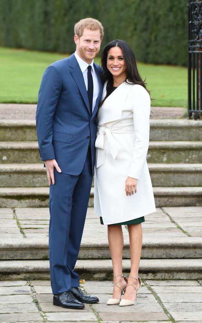 GIFTER SEG: Våren 2018 står bryllupet mellom prins Harry og Meghan Markle, som trolig får tittelen hertuginne. Foto: NTB scanpix