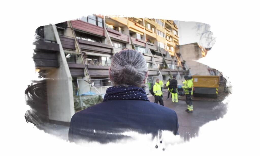 AVVISER ALT: Roger Wilhelmsen møter Dagbladet på byggeplassen der ryktene begynte å svirre. Foto: Lars EIvind Bones/Dagbladet.