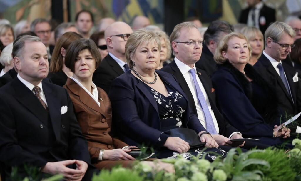 IKKE ENIG MED ICAN: Statsminister Erna Solberg. Foto: Berit Roald / NTB scanpix