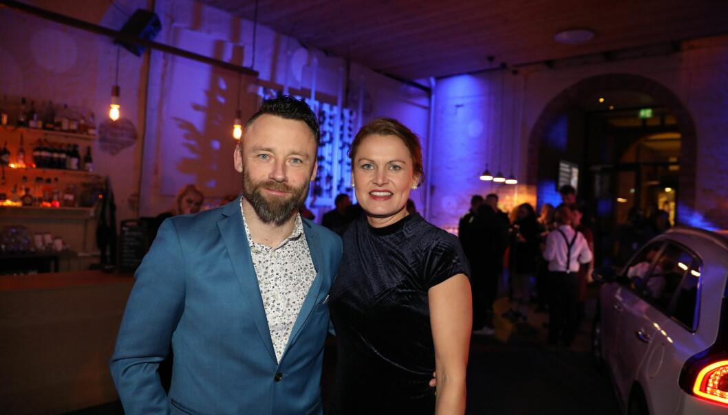 TOK MED KONA: Deltaker Tom Evensen valgte å ta med seg kona på festen søndag kveld. Foto: Christian Roth Christensen / Dagbladet