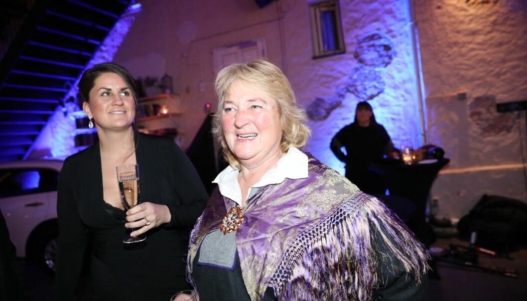 TRADISJON: Line Suomalainen dukket opp på finalefesten i kofte. Foto: Christian Roth Christensen / Dagbladet