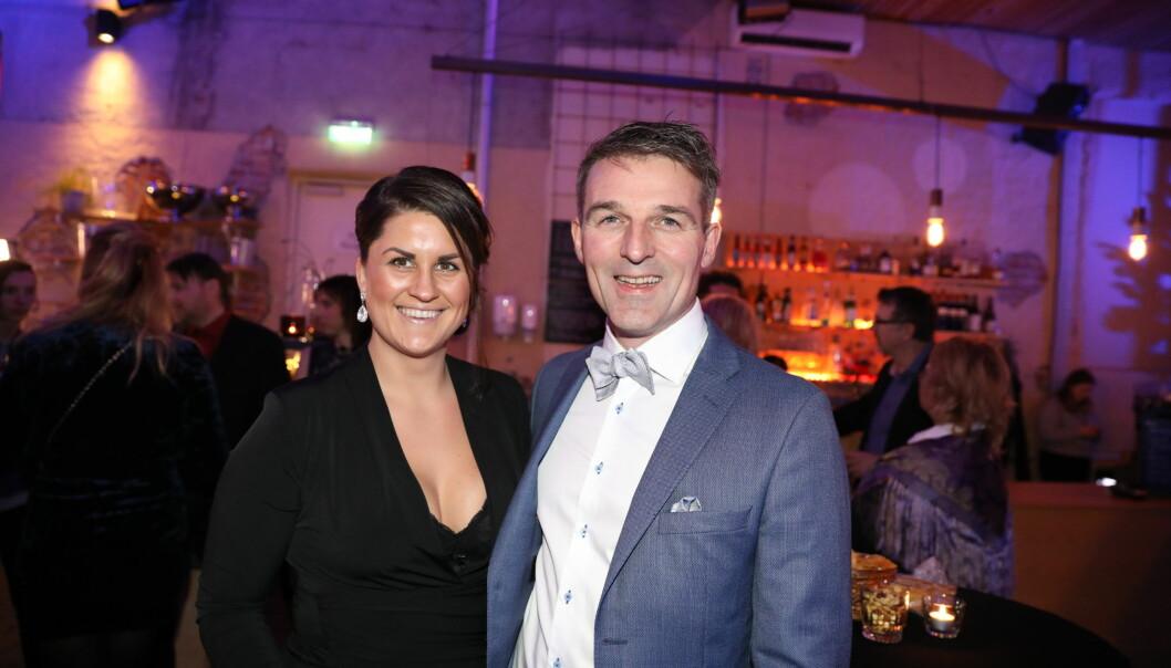 STRÅLTE: Sunniva Dortea Thorsen sammen med ektemannen. Foto: Christian Roth Christensen / Dagbladet