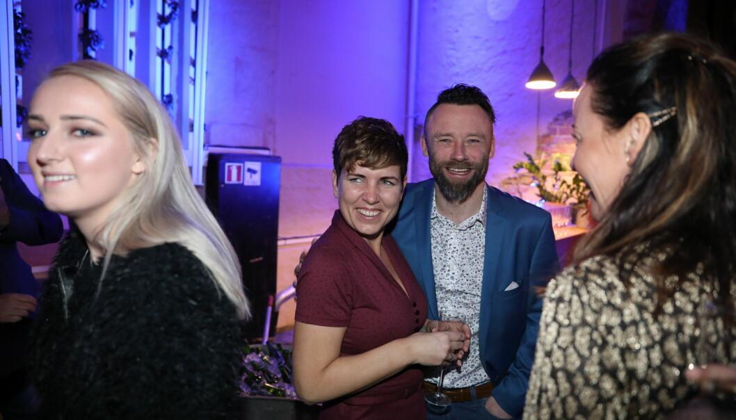 HYGGE: Eunike og Tom tok seg tid til å posere for fotografene. Foto: Christian Roth Christensen / Dagbladet