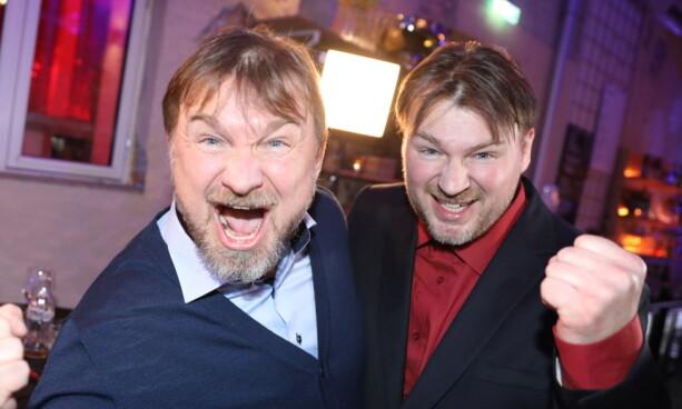 BRØL: Halvor og broren var meget fornøyde med seier. Foto: Christian Roth Christensen / Dagbladet