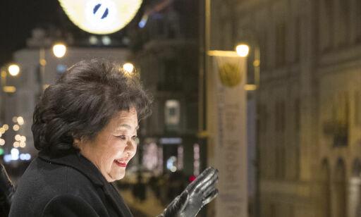 image: Nobelprisvinnere hyllet med fakkeltog og krav om norsk støtte