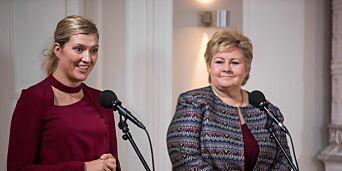 image: Erna forsvarer at hun ikke klappet da fredsprisvinneren talte