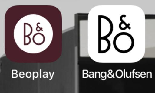 TO APPER: Begge virker, men bare den ene utnytter alle mulighetene med BeoPlay. Foto: Tore Neset