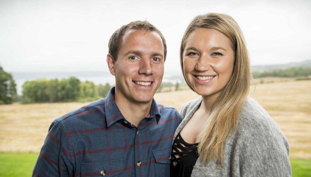 FEIRER JUL SAMMEN: Ingvar Alstad og Trine Merethe Sverkmo har planer om å tilbringe sin første julaften sammen hjemme på gården. Foto: Lars Eivind Bones/ Dagbladet
