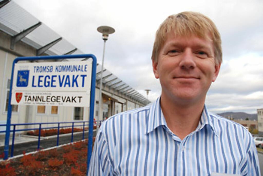 - FORELDRE MÅ FÅ HA LAV TERSKEL: Overlege Anton Giæver på Tromsø kommunlae legevekat Foto: telemed.no