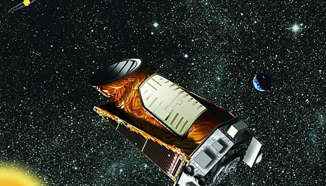 <strong>KEPLER:</strong> Keplerteleskopet er NASAs romteleskop som leter etter eksoplaneter. Torsdag denne uka inviterer NASA til en pressekonferanse knyttet til Kepler. Foto: NASA/AFP/Scanpix