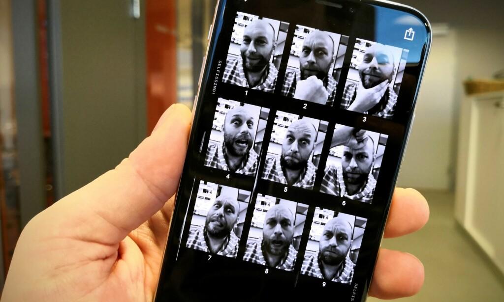 PHOTOSHOOT: Googles nye Selfissimo-app tar automatisk bilde av deg hver gang du poserer. Foto: Pål Joakim Pollen