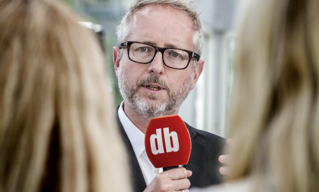 20170830 OSLO Bård Vegar Solhjell og Torger Micaelsen i Dagbladets valgbod. Begge forlater Stortinget etter denne perioden. Foto: Hans Arne Vedlog / Dagbladet