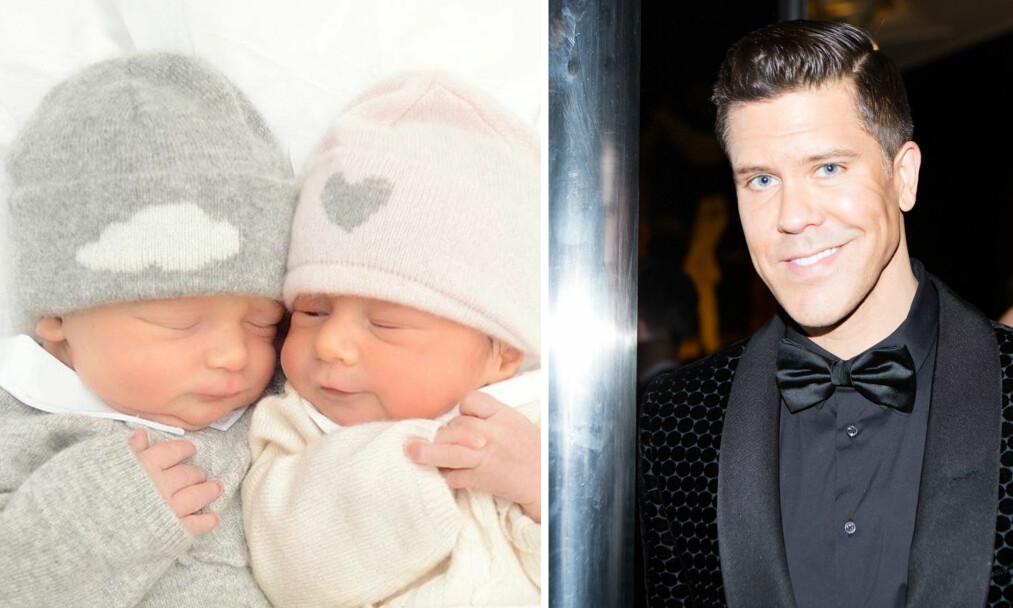 LIKHET: Fredrik Eklunds nye bilde av tvillingene Fredrick og Milla, vekker oppsikt blant fansen. Foto: Skjermdump Instagram, Shutterstock