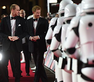 William og Harry stjal showet på «Star Wars»-premiere