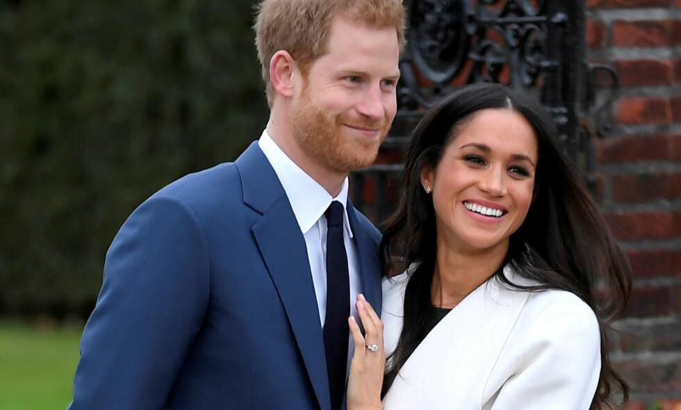 HAR BESTEMT BRYLLUPSDATOEN: Fredag ble det annonsert at prins Harry og Meghan Markle gifter seg om nesten akkurat fem måneder - den 19. mai 2018. Foto: Reuters/ NTB scanpix