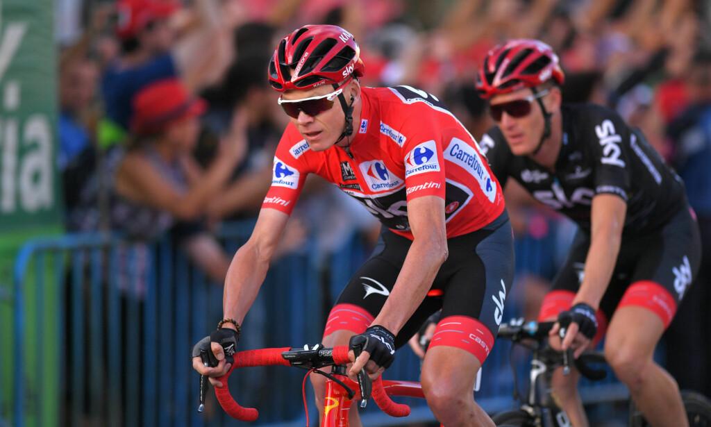 I SAKSA: Det skal mye til for at Chris Froome slipper unna uten suspensjon etter at testen hans etter den 18.-etappen av Spania rundt, viste et salbutamol-innhold på 2000 ng/ml. FOTO: Tim De Waele/TDWSPORT.COM