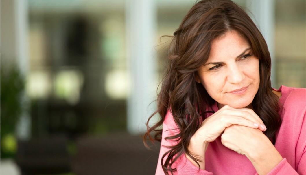 OVERGANGSALDEREN: Én av fire kvinner opplever alvorlige plager i forbindelse med overgangsalderen. FOTO: Scanpix