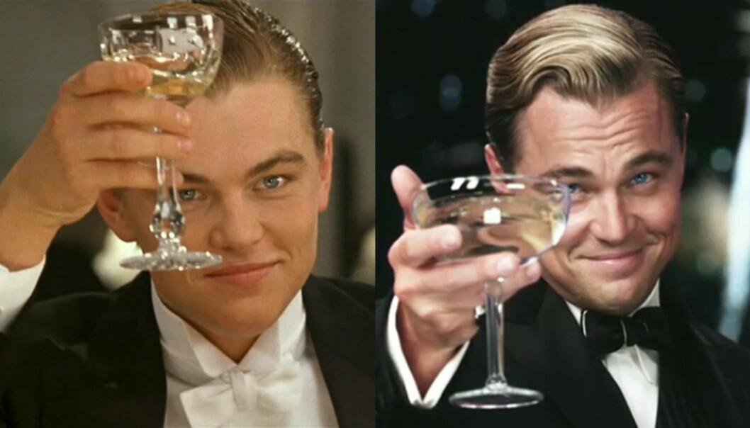 <strong>JACK OG JAY:</strong> Flere mener at Jack Dawson og Jay Gatsby er samme person. Foto: Titanic / The Great Gatsby