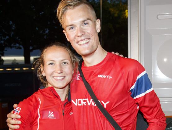 - FILIPS DRØMMEDAME: Filip Ingebrigtsen sammen med sin utkårede, Astrid, under EM i friidrett i Amsterdam i 2016. Foto: Heiko Junge / NTB scanpix
