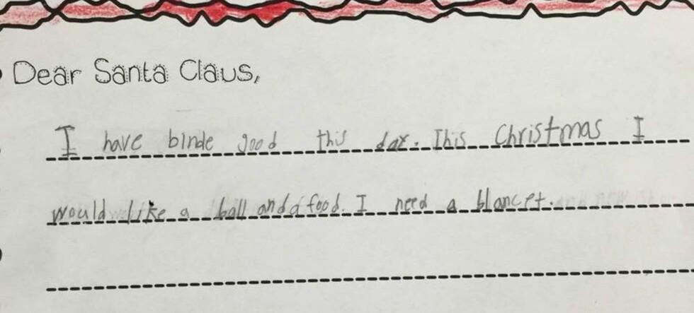 Her er 7 år gamle Crystals hjerteskjærende gaveønsker til julenissen