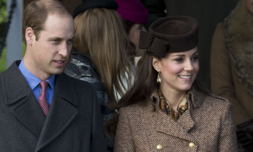 Britain's Prince William and his wife Kate Duchess of Cambridge leave after attending the British royal family's traditional Christmas Day church service at St. Mary Magdalene Church in Sandringham, England, Thursday, Dec. 25, 2014.  (AP Photo/Matt Dunham)
