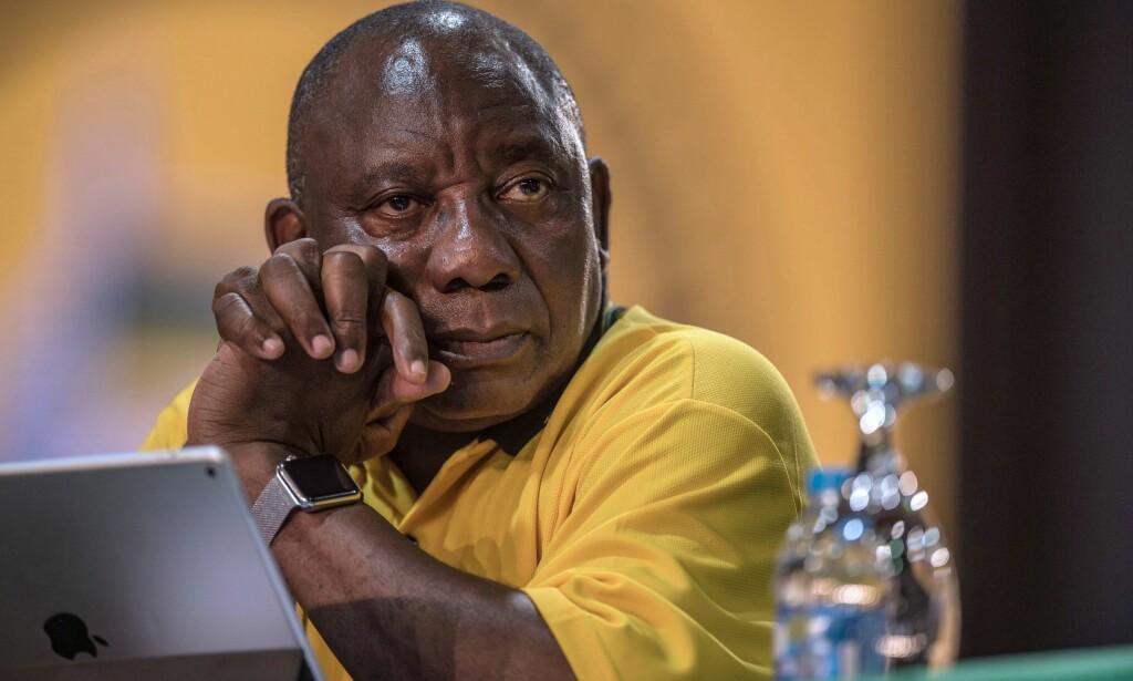 NY LEDER: Cyril Ramaphosa er valgt til ny leder i regjeringspartiet ANC. Foto: AFP / MUJAHID SAFODIEN / NTB Scanpix